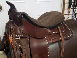 #42 Used Western tooled w/ silver trim